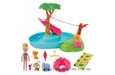 Genuine Barbie and Chelsea Splashtastic Pool Surprise Playset