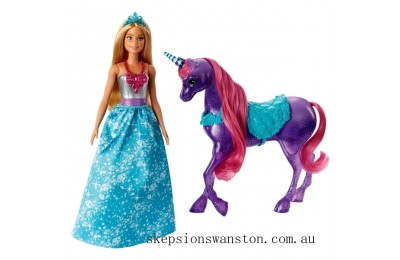 Discounted Barbie Dreamtopia Princess Doll and Unicorn