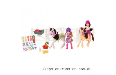 Clearance Barbie Club Chelsea Dolls and Ponies Playset