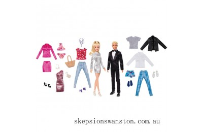 Clearance Barbie and Ken Dolls Fashion Set