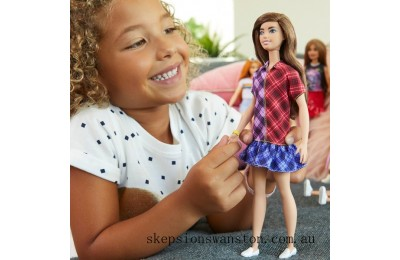 Genuine Barbie Fashionista Doll 137 Mad for Plaid