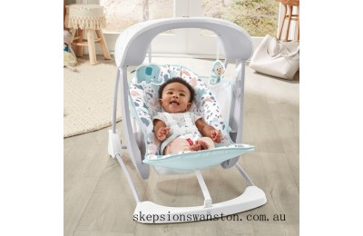 Discounted Fisher-Price Take-Along Baby Swing & Seat - Terrazzo