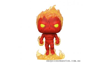 Marvel Fantastic Four Human Torch Funko Pop! Vinyl Clearance Sale