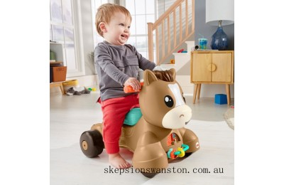 Genuine Fisher-Price Walk, Bounce and Ride Pony