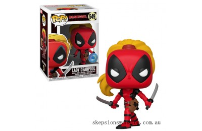 PIAB EXC Marvel 80th Lady Deadpool Funko Pop! Vinyl Clearance Sale