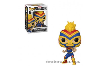 Marvel Luchadores Captain Marvel Pop! Vinyl Clearance Sale