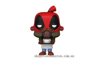 Marvel Deadpool 30th Coffee Barista Funko Pop! Vinyl Clearance Sale
