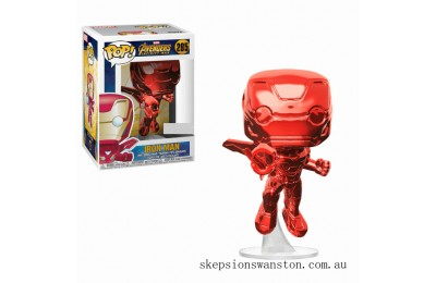 Marvel Avengers:Infinity War Iron Man (Red Chrome) EXC Funko Pop! Vinyl Clearance Sale