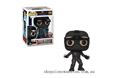 Marvel Spider-Man Far From Home Stealth Suit Goggles Up EXC Funko Pop! Vinyl Clearance Sale