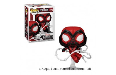 Marvel Spiderman Miles Morales Red Suit Pop! Vinyl Clearance Sale