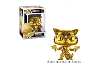 Marvel MS10 Rocket Raccoon Gold Chrome EXC Funko Pop! Vinyl (VIP ONLY) Clearance Sale