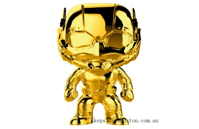 Marvel MS 10 Ant-Man Gold Chrome Funko Pop! Vinyl Clearance Sale