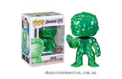Marvel Avengers 4 Green Chrome Hulk EXC Funko Pop! Vinyl Clearance Sale