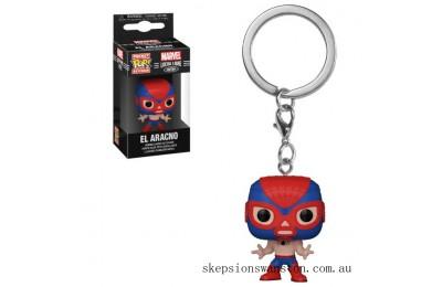 Marvel Luchadores Spider-Man Pop! Keychain Clearance Sale