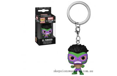 Marvel Luchadores Hulk Pop! Keychain Clearance Sale