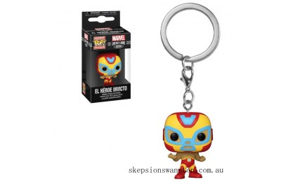 Marvel Luchadores Iron Man Pop! Keychain Clearance Sale