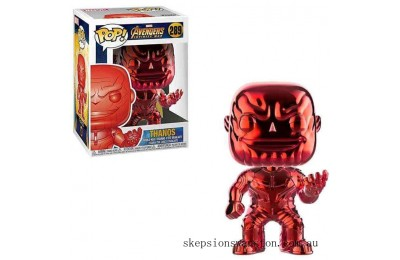 Marvel Thanos Red Chrome EXC Funko Pop! Vinyl Clearance Sale