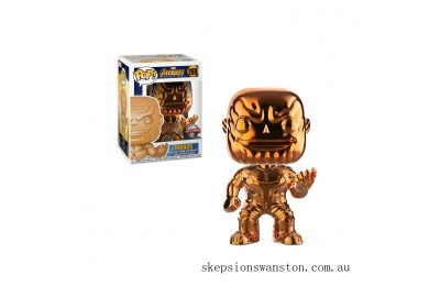 Marvel Thanos Orange Chrome EXC Funko Pop! Vinyl Clearance Sale