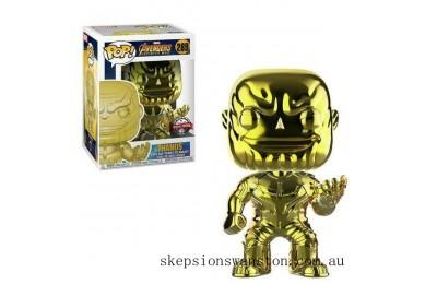 Marvel Thanos Yellow Chrome EXC Funko Pop! Vinyl Clearance Sale