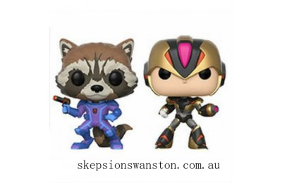 Capcom vs Marvel Rocket vs Megaman EXC Funko Pop! Vinyl 2 Pack Clearance Sale
