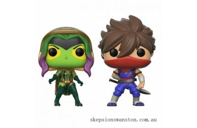 Marvel Vs Capcom Gamora Vs Strider Pop! Vinyl Figure 2 Pack Clearance Sale