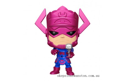 "PX Previews Marvel Galactus with Silver Surfer EXC 10"" Metallic Funko Pop! Vinyl Clearance Sale"