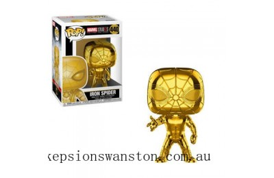Marvel MS 10 Iron Spider Gold Chrome Funko Pop! Vinyl Clearance Sale