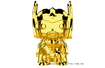Marvel MS 10 Thor Gold Chrome Funko Pop! Vinyl Clearance Sale