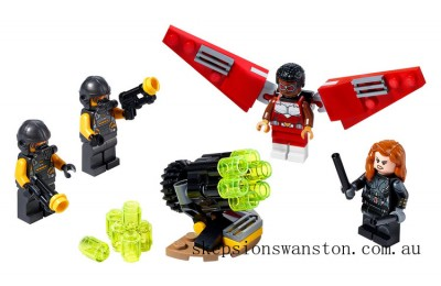 Outlet Sale Lego Falcon & Black Widow team up