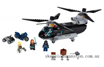 Clearance Lego Black Widow's Helicopter Chase