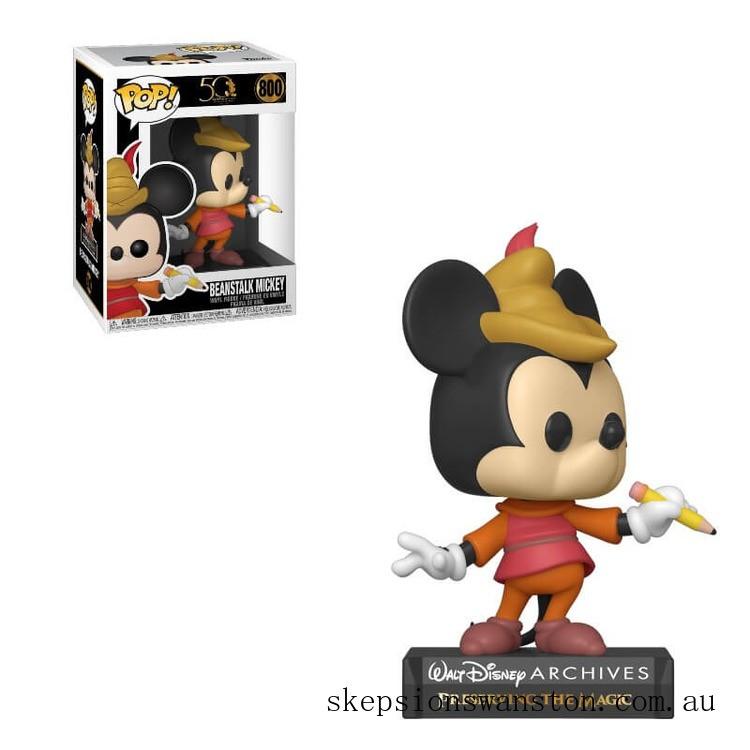 Disney Archives Beanstalk Mickey Mouse Funko Pop! Vinyl Clearance Sale