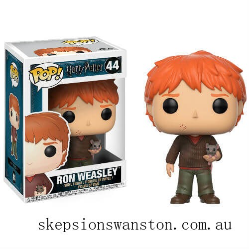 Harry Potter Ron Weasley with Scabbers Funko Pop! Vinyl Clearance Sale