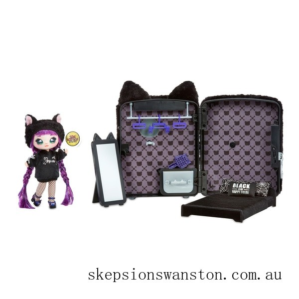 Discounted Na! Na! Na! Surprise 3-in-1 Backpack Bedroom Black Kitty Playset