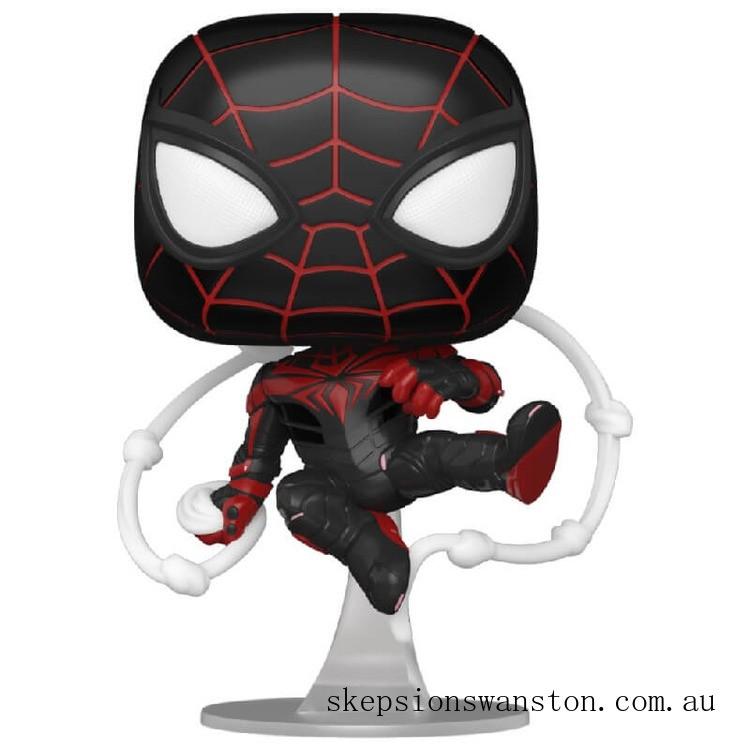Marvel Spiderman Miles Morales Advanced Tech Suit Pop! Vinyl Clearance Sale
