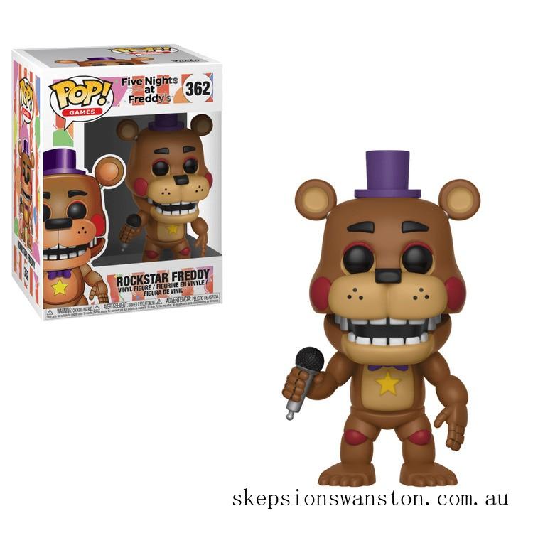 Five Nights at Freddy's Pizza Simulator Rockstar Freddy Funko Pop! Vinyl Clearance Sale