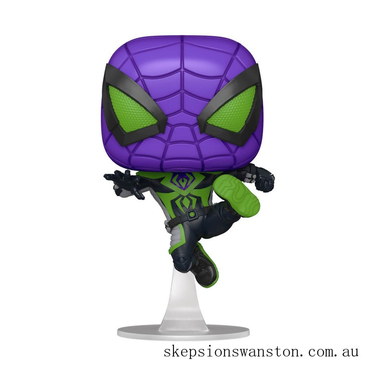 Marvel Spiderman Miles Morales Purple Suit Pop! Vinyl Clearance Sale