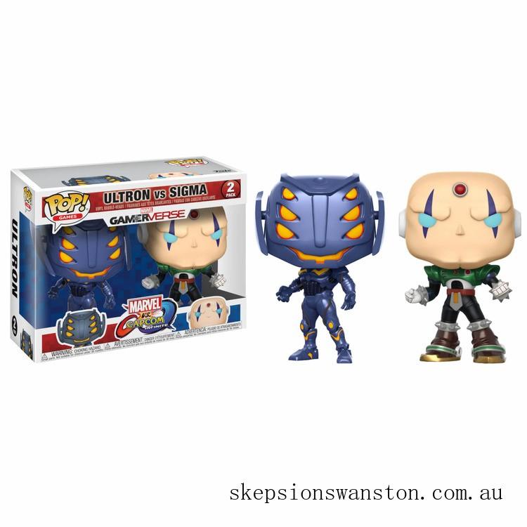 Marvel Vs Capcom Ultron Vs Sigma Pop! Vinyl Figure 2 Pack Clearance Sale