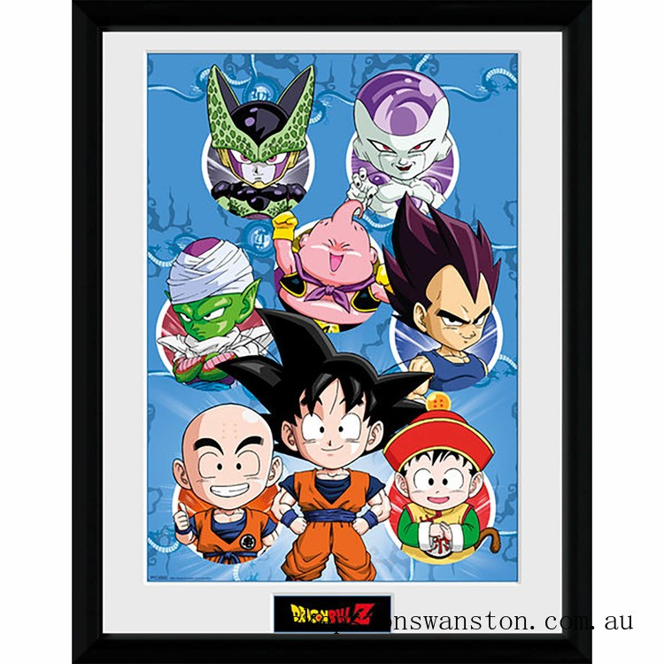 Dragonball Z Chibi Characters - 16 x 12 Inches Framed Photographic Clearance Sale