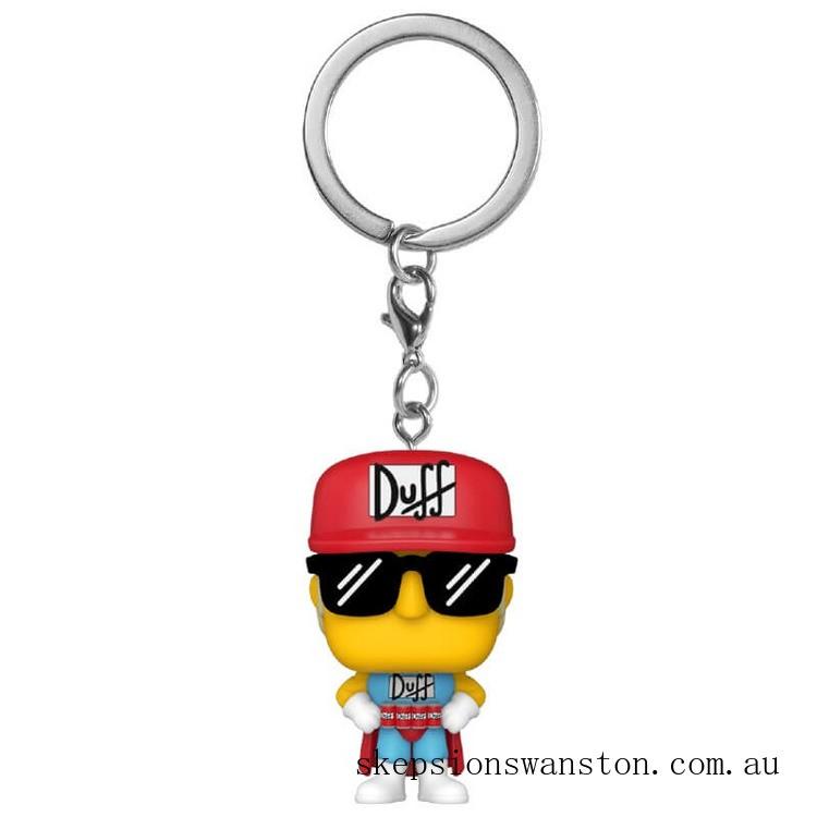Simpsons Duffman Funko Pop! Keychain Clearance Sale