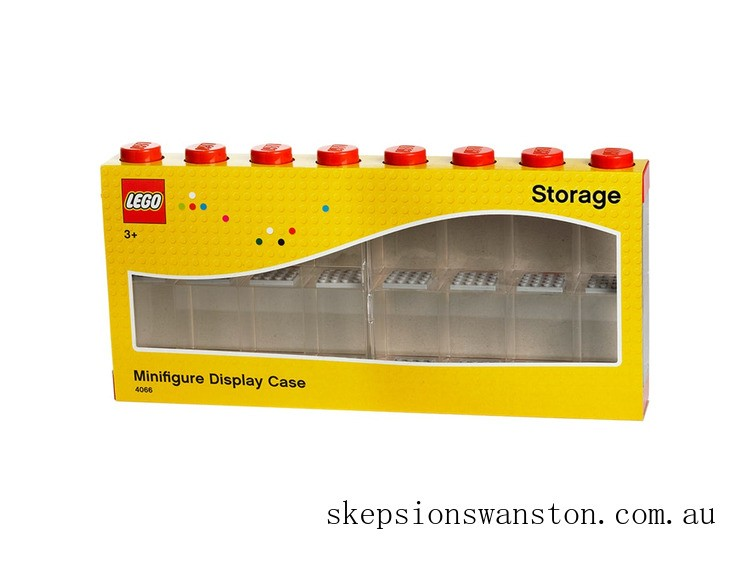 Discounted Lego® Minifigure Display Case 16 – Red