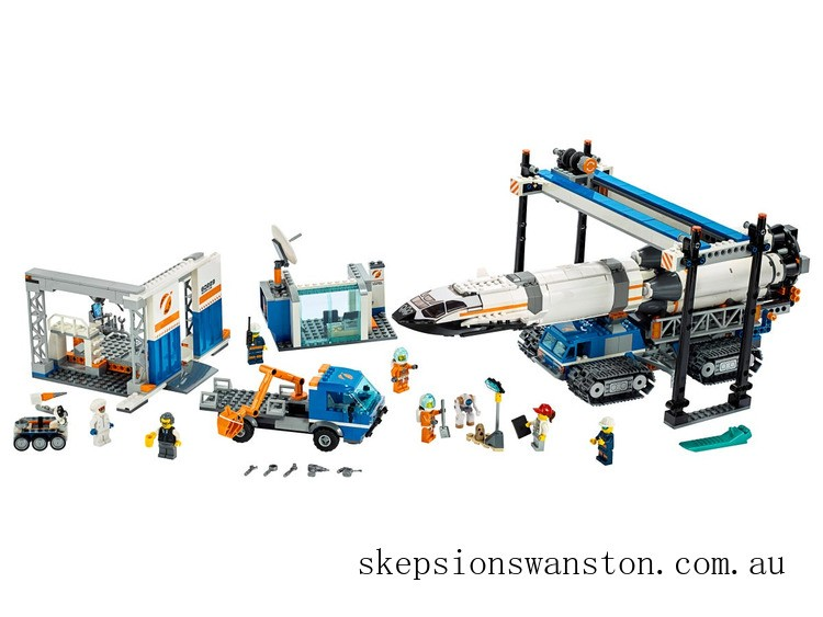Clearance Lego Rocket Assembly & Transport