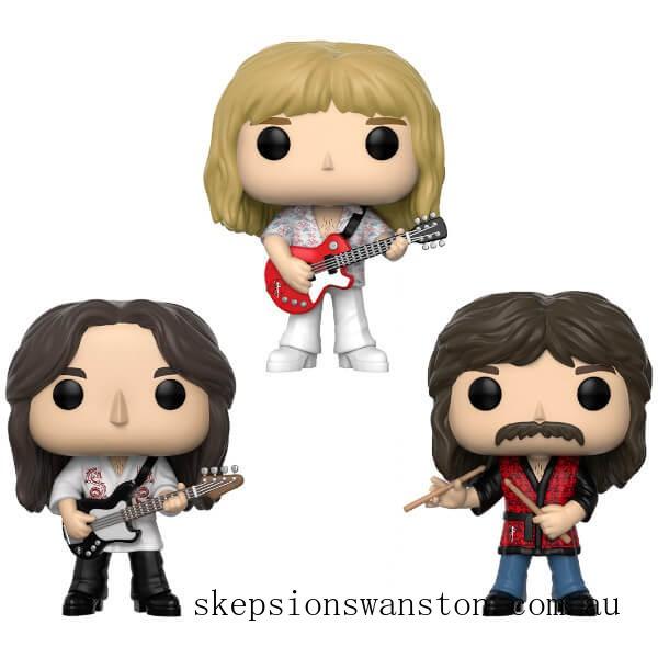 Pop! Rocks Rush Geddy, Alex, Neil 3-pack Funko Pop! Vinyl Clearance Sale