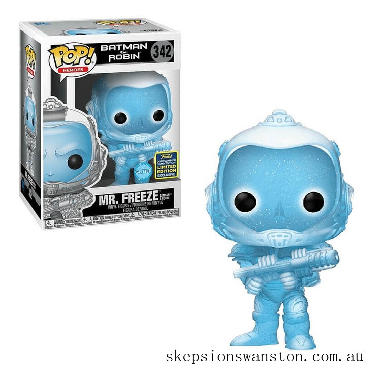 DC Comics Batman & Robin Mr Freeze GITD Convention EXC Pop! Vinyl Clearance Sale