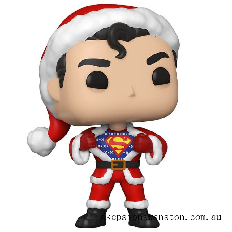 DC Comics Holiday Superman with Sweater Funko Pop! Vinyl Clearance Sale