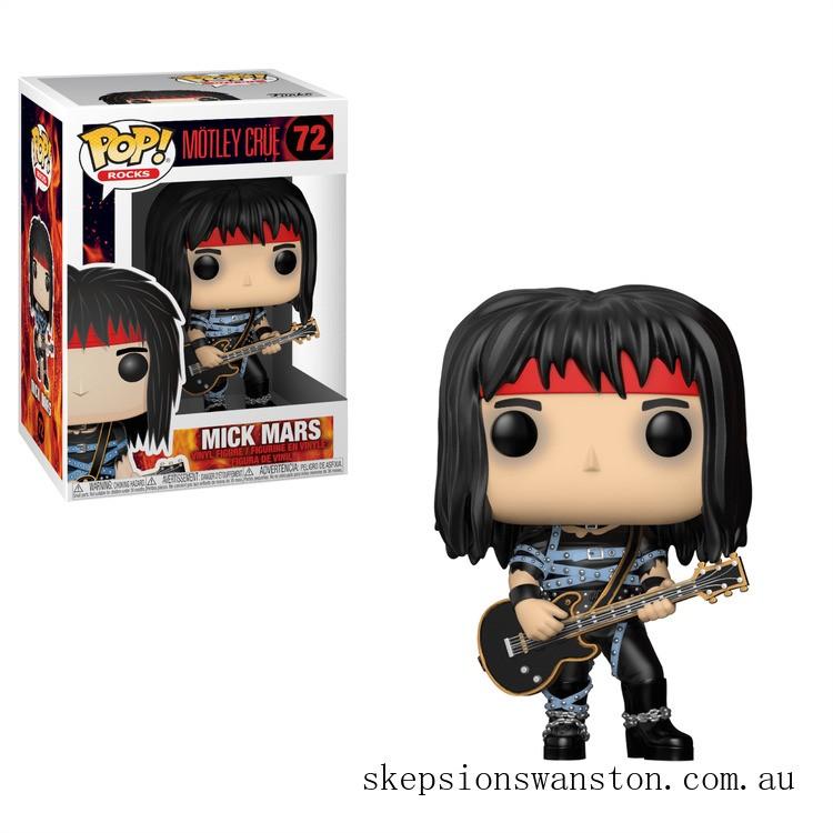 Pop! Rocks Motley Crue- Mick Mars Funko Pop! Vinyl Clearance Sale