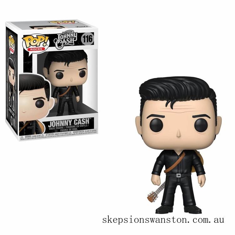 Pop! Rocks Johnny Cash in Black Funko Pop! Vinyl Clearance Sale