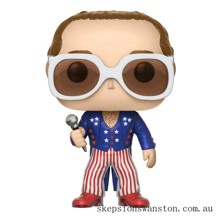 Pop! Rocks Elton John Red White Blue Funko Pop! Vinyl Clearance Sale