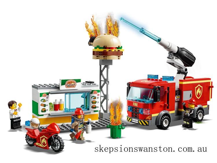 Genuine Lego Burger Bar Fire Rescue