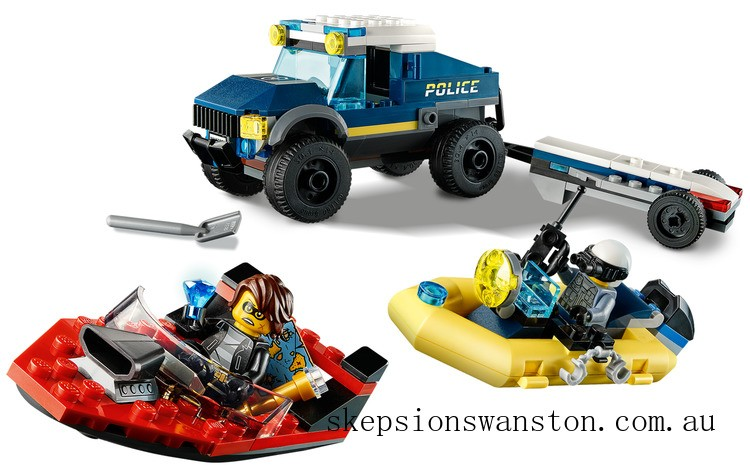 Clearance Lego Police Boat Transport