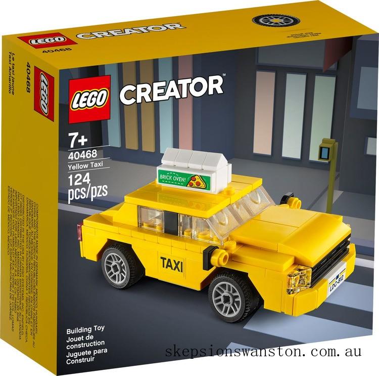 Genuine Lego Yellow Taxi